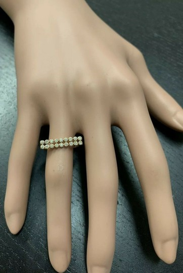 Other 0.25 Carats Natural Diamond 14K Solid Rose Gold Band Ring Image 5