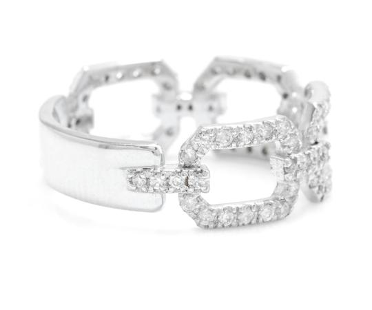 Other 0.50Ct Natural Diamond 14K Solid White Gold Ring Image 1