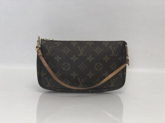Louis Vuitton Lv Pochette Pochette Accessories Monogram Pouch Wristlet in Brown Image 4