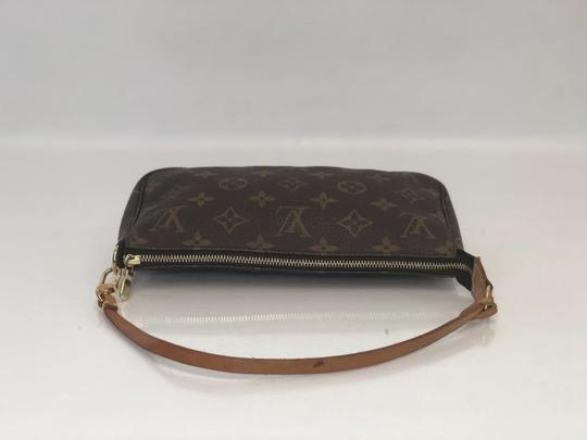 Louis Vuitton Lv Pochette Pochette Accessories Monogram Pouch Wristlet in Brown Image 5