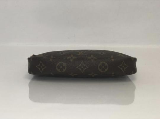 Louis Vuitton Lv Pochette Pochette Accessories Monogram Pouch Wristlet in Brown Image 6