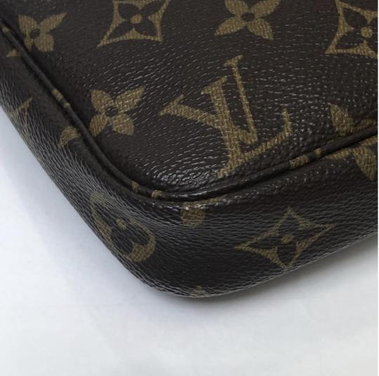 Louis Vuitton Lv Pochette Pochette Accessories Monogram Pouch Wristlet in Brown Image 7