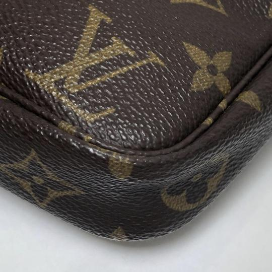 Louis Vuitton Lv Pochette Pochette Accessories Monogram Pouch Wristlet in Brown Image 8