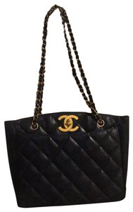 Chanel Tote Chain Vintage Turn Lock Shoulder Bag