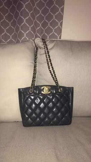 Chanel Tote Chain Vintage Turn Lock Shoulder Bag Image 1