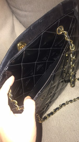 Chanel Tote Chain Vintage Turn Lock Shoulder Bag Image 11