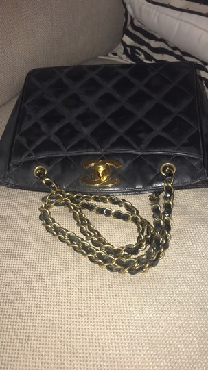 Chanel Tote Chain Vintage Turn Lock Shoulder Bag Image 5