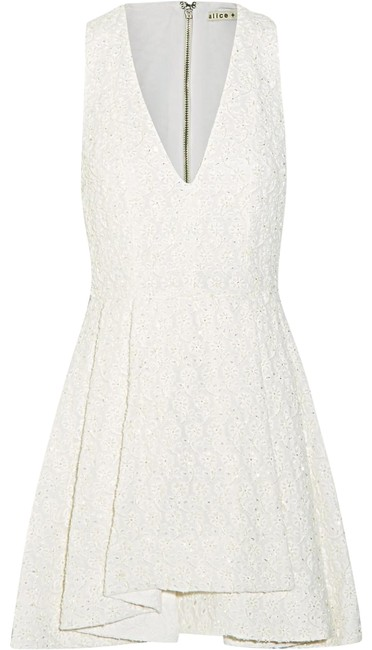 Preload https://img-static.tradesy.com/item/25768435/alice-olivia-off-white-tanner-beaded-embroidered-cotton-short-cocktail-dress-size-6-s-0-1-650-650.jpg