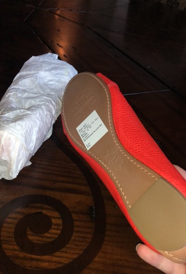 Tory Burch scarlet red (more like orange) Flats Image 4