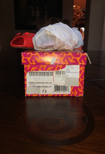 Tory Burch scarlet red (more like orange) Flats Image 6