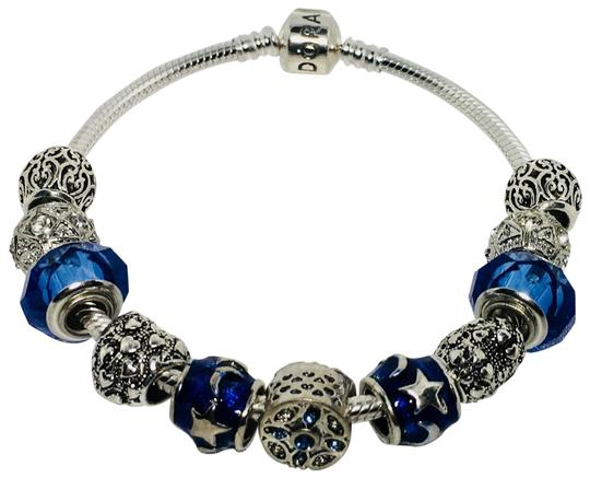 Preload https://img-static.tradesy.com/item/25768449/pandora-dark-blue-i-love-you-to-the-moon-and-back-charm-with-european-silver-charms-bracelet-0-1-540-540.jpg
