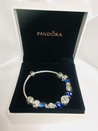 PANDORA I Love You to the Moon and Back Charm * Pandora Bracelet With European Silver Charms Image 11
