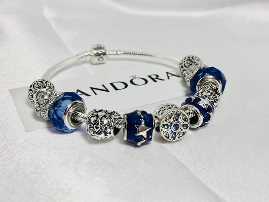 PANDORA I Love You to the Moon and Back Charm * Pandora Bracelet With European Silver Charms Image 8