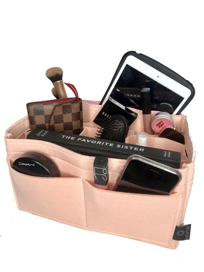 Louis Vuitton Organizer Insert For Neverfull And Speedy Bags Red MM Louis Vuitton Neverfull MM Speedy 35 Pink Rose Organizer for Interior Image 4