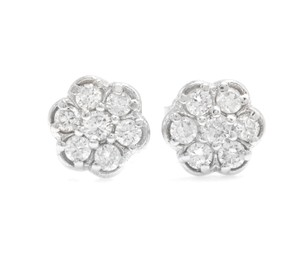 Other 0.45Ct Natural Diamond 14k Solid White Gold Earrings