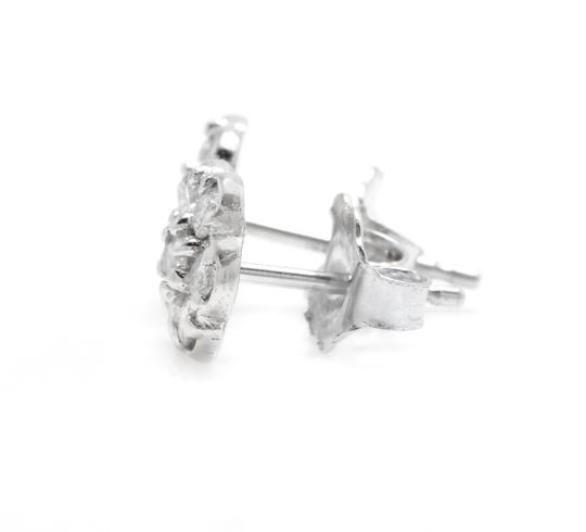 Other 0.45Ct Natural Diamond 14k Solid White Gold Earrings Image 1