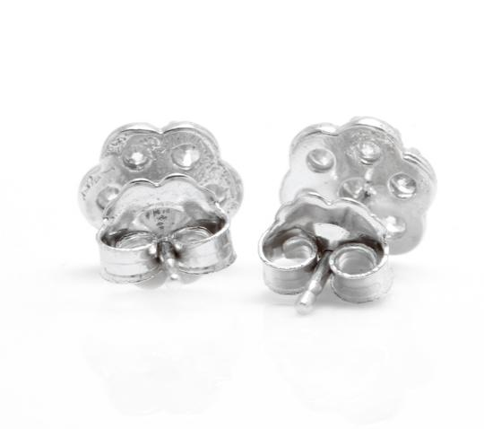 Other 0.45Ct Natural Diamond 14k Solid White Gold Earrings Image 2