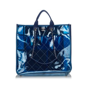 Chanel 9gchto002 Vintage Tote in Blue