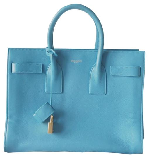 Saint Laurent Tote in baby blue Image 0