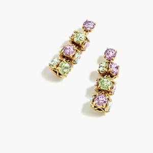 J.Crew Twisted multicolored crystal drop earrings