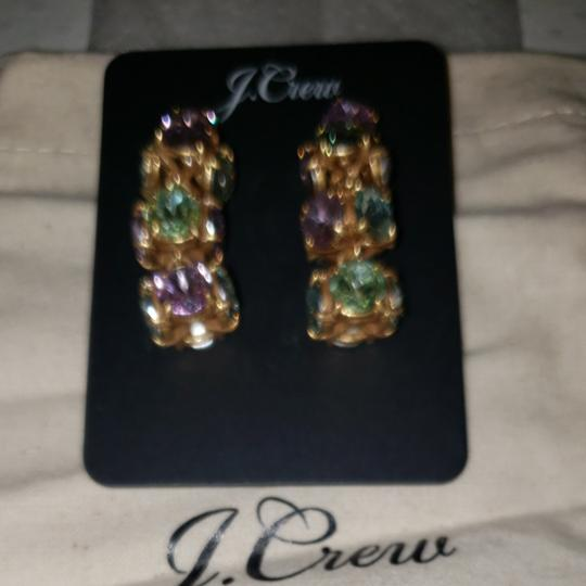 J.Crew Twisted multicolored crystal drop earrings Image 2