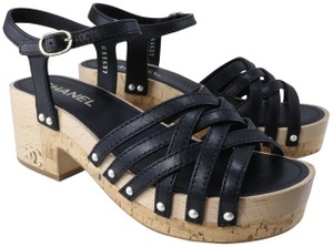 Chanel Pearl black Sandals