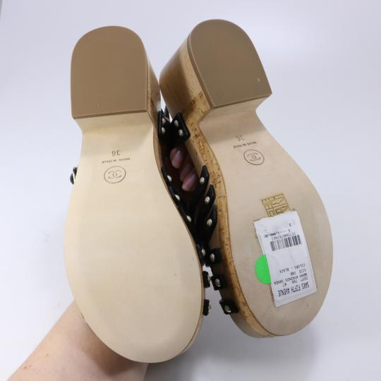 Chanel Pearl black Sandals Image 4