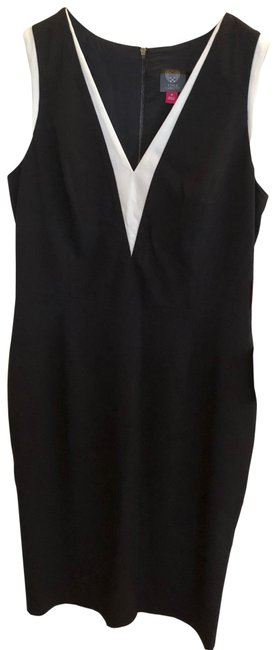 Preload https://img-static.tradesy.com/item/25768556/vince-camuto-black-and-white-mid-length-workoffice-dress-size-12-l-0-1-650-650.jpg
