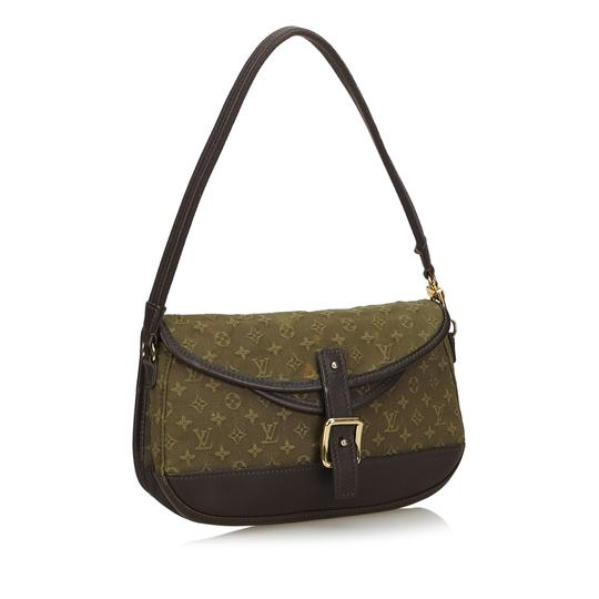 Louis Vuitton 9glvbg017 Vintage Cotton Leather Baguette Image 1