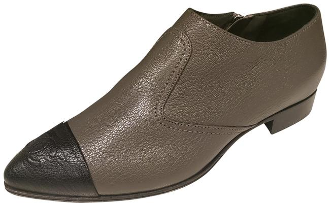 Item - Grey/Black 18b Grained Leather Cap Toe Short Ankle Boots/Booties Size EU 36 (Approx. US 6) Regular (M, B)