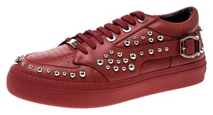 Jimmy Choo Studded Leather Red Flats
