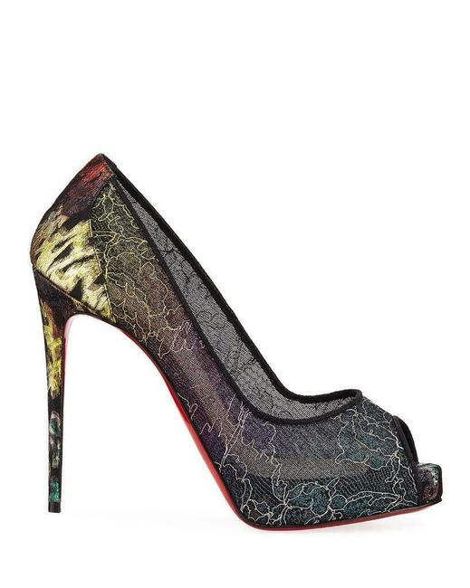 Item - Multicolor Very Lace 120 Rainbow Open Toe Heel Pump Platforms Size EU 36 (Approx. US 6) Regular (M, B)