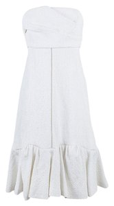 Chloé short dress White Quilted Floral Jacquard on Tradesy