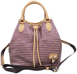 Louis Vuitton Lv Eden Neo Canvas Satchel in Purple and Gold