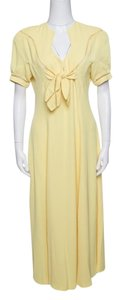 Yellow Maxi Dress by Thierry Mugler Vintage Tie Detail Maxi