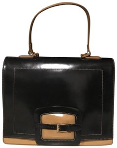 Coccinelle Satchel in Black and Tan