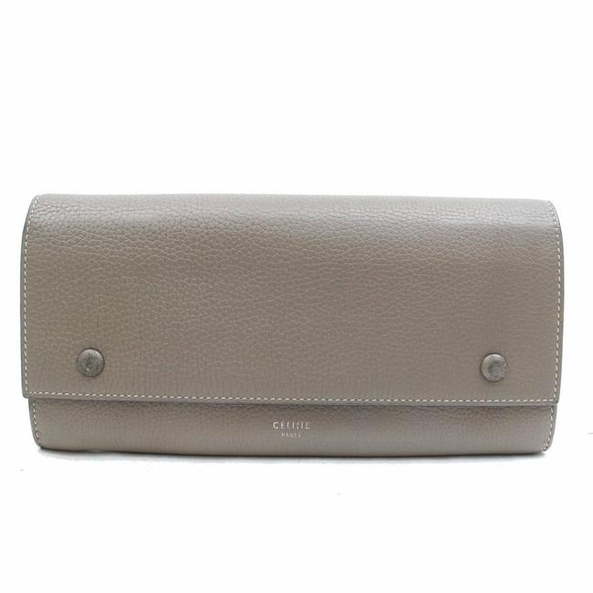 Item - Taupe Bicolor Grey-taupe Yellow Bifold Snap Large Long Flap 870980 Wallet