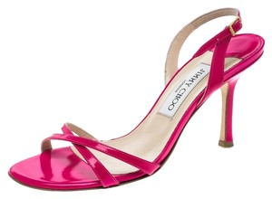 Jimmy Choo Leather Slingback Pink Sandals