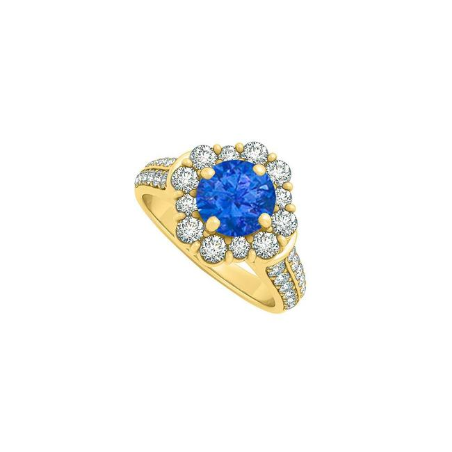 Blue 2.00 Carat Royal Sapphire Cz In 14k Yellow Gold Ring Blue 2.00 Carat Royal Sapphire Cz In 14k Yellow Gold Ring Image 1