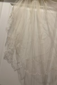 David's Bridal Champagne Medium Bridal Veil