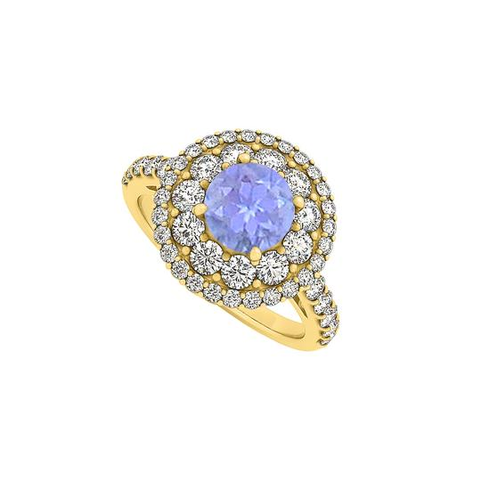 Preload https://img-static.tradesy.com/item/25770193/blue-tanzanite-and-cz-double-halo-engagement-14k-gold-ring-0-0-540-540.jpg