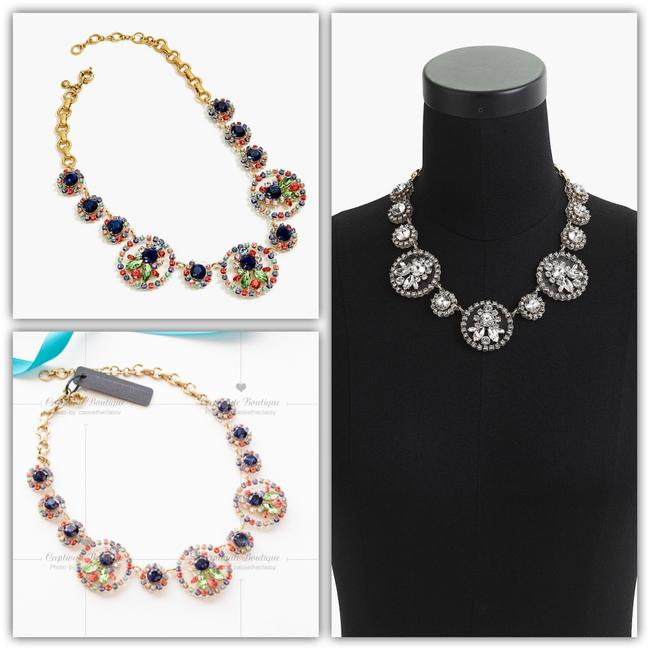J.Crew Crystal and Acetate Statement Necklace J.Crew Crystal and Acetate Statement Necklace Image 1
