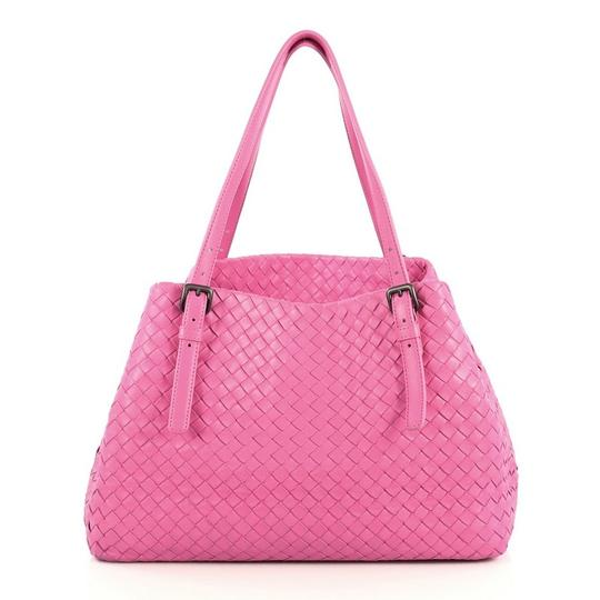 Preload https://img-static.tradesy.com/item/25770363/bottega-veneta-a-shape-intrecciato-medium-pink-nappa-leather-tote-0-0-540-540.jpg
