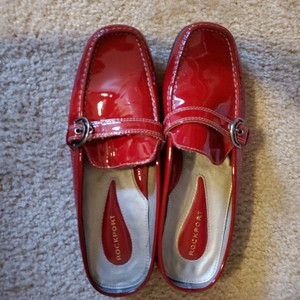 Rockport Cherry red Mules