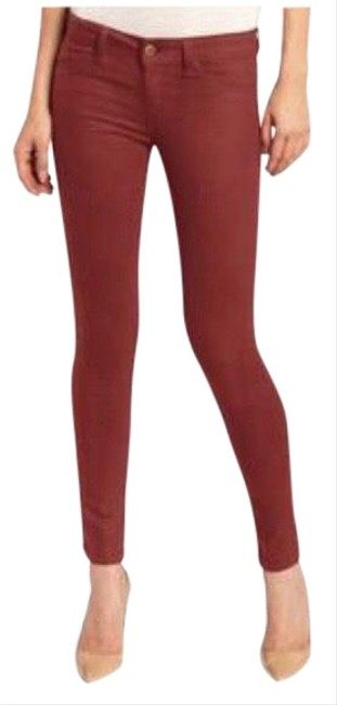 Item - Red Coated Emma Leggings In Flame Skinny Jeans Size 26 (2, XS)