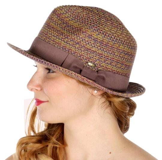 Preload https://img-static.tradesy.com/item/25770690/beige-plum-new-multitone-fedora-bow-band-size-adjustable-hat-0-1-540-540.jpg
