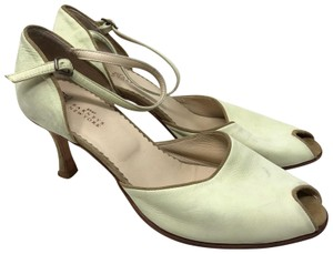 Henry Cuir lime leather grey suede Sandals