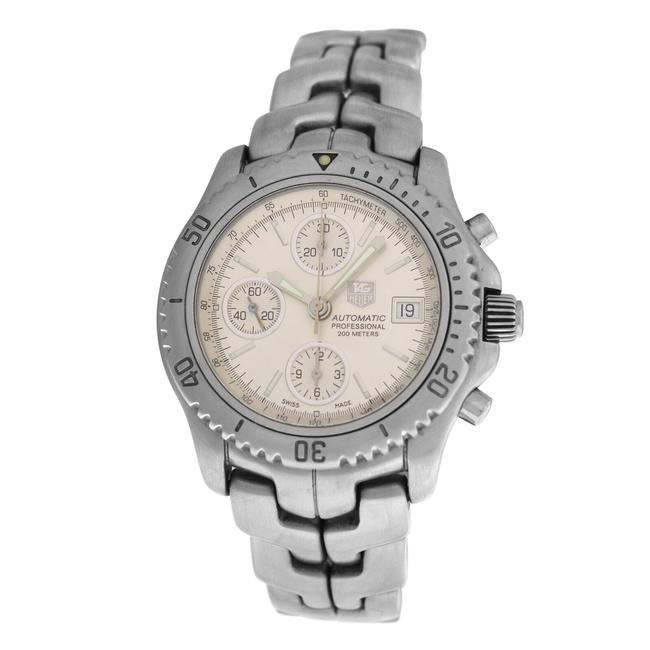 TAG Heuer Silver Men's Link Ct2113 Chronograph Steel 41mm Watch TAG Heuer Silver Men's Link Ct2113 Chronograph Steel 41mm Watch Image 1