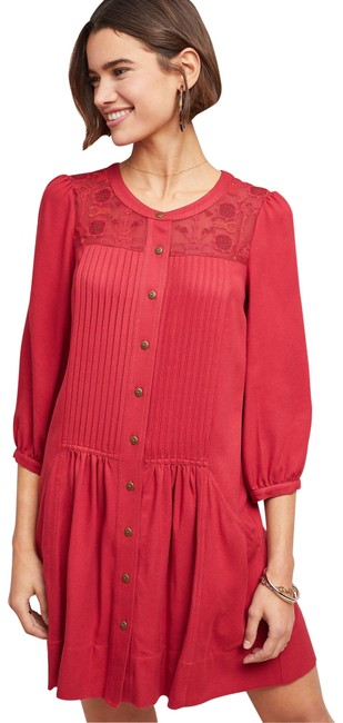 Item - Magenta Dubois Embroidered Tunic Rose Short Casual Dress Size 2 (XS)