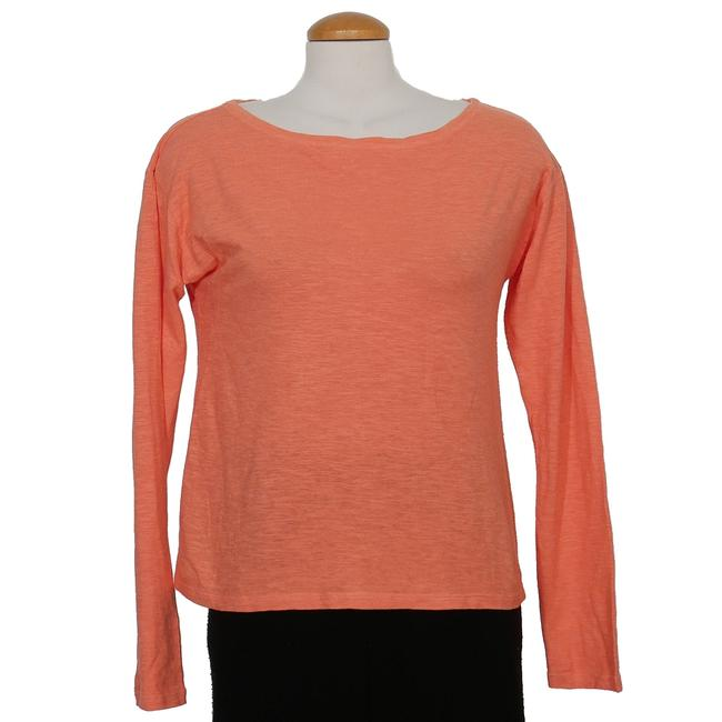 Item - Flora Orange Twist Organic Cotton Hemp Boxy S Blouse Size 6 (S)